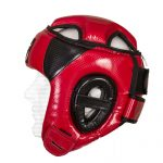 "CASQUE DE BOXE OUVERT EN PU ""CARBON"" ROUGE - WETTLE GEAR-49"